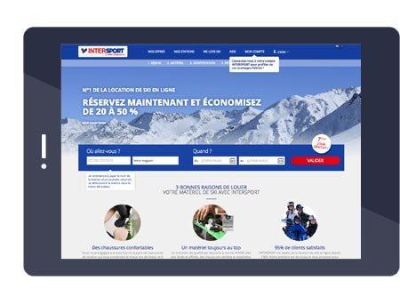 Accueil du site Intersport Rent
